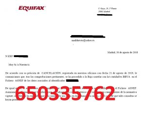 cancelar deudas bbva asnef equifax