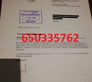 cancelación cirbe banco españa caixabank