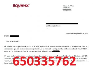 cancelar deudas digital tv asnef equifax