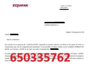 cancelar deudas ferratum asnef equifax