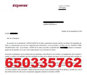 cancelar deudas nbq technolofy deenero asnef equifax