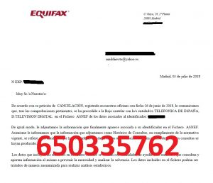 cancelar telefonica digital tv asnef equifax