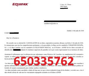 cancelar vodafone digital tv asnef equifax